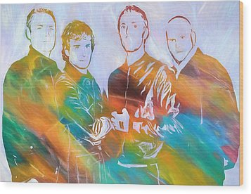 Colorful Coldplay Wood Print