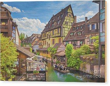 Colorful Colmar Wood Print