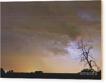 Colorful Colorado Cloud To Cloud Lightning Striking Wood Print by James BO  Insogna
