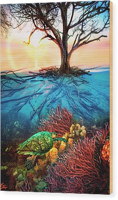 Wood Print featuring the photograph Colorful Coral Seas by Debra and Dave Vanderlaan
