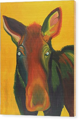 Colorful Cow Wood Print by Amy Reisland-Speer