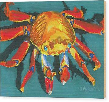 Colorful Crab II Wood Print