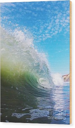 Colorful Curl Wood Print by Paul Topp