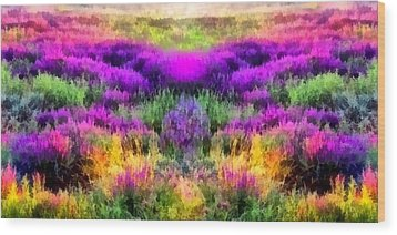 Colorful Field Of A Lavender Wood Print by Anton Kalinichev