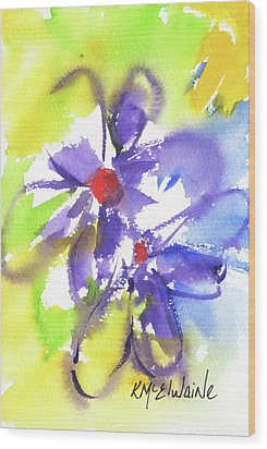Colorful Flower Wood Print