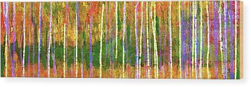 Colorful Forest Abstract Wood Print