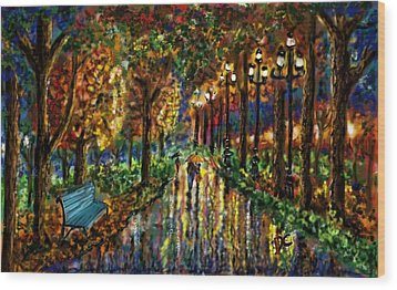 Colorful Forest Wood Print