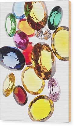 Colorful Gems Wood Print by Setsiri Silapasuwanchai
