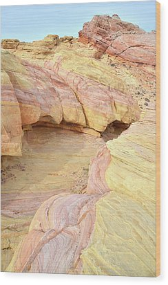 Wood Print featuring the photograph Colorful Hilltop In Valley Of Fire by Ray Mathis