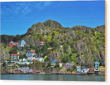 Colorful Houses In Newfoundland Wood Print