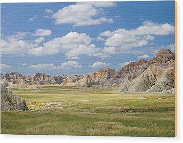 Colorful Landscape In Badlands National Wood Print by Philippe Widling