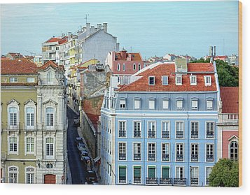 Wood Print featuring the photograph Colorful Lisbon by Marion McCristall