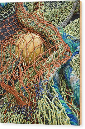 Colorful Nets And Float Wood Print