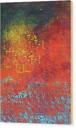 Wood Print featuring the painting Colorful Night by Nancy Merkle