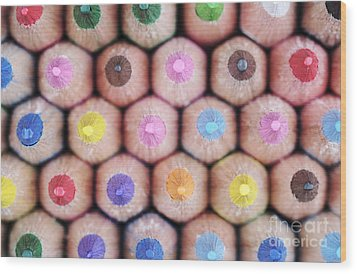Colorful Pencils 2 Wood Print by Neil Overy