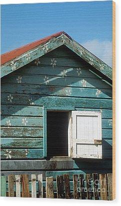 Colorful Shack Wood Print by John Greim