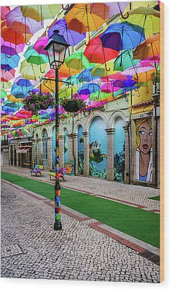 Colorful Street Wood Print