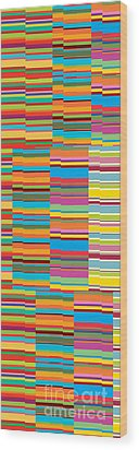 Colorful Stripes Wood Print by Ramneek Narang
