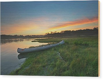 Colorful Sunrise - Assateague Island - Maryland Wood Print by Brendan Reals