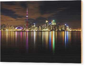 Colorful Toronto Wood Print by Matt  Trimble
