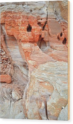 Wood Print featuring the photograph Colorful Wall Of Sandstone In Valley Of Fire by Ray Mathis