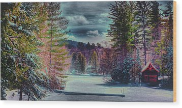 Wood Print featuring the photograph Colorful Winter Wonderland by David Patterson