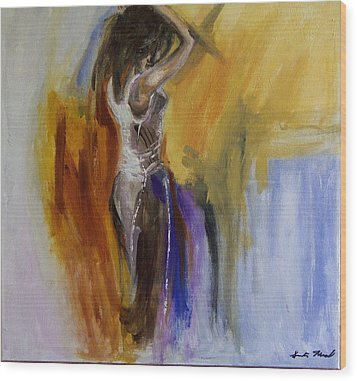 Colorful Woman Wood Print by Gunter Kreil