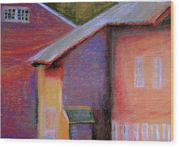 Colors And Shadows Wood Print by Dona Mara