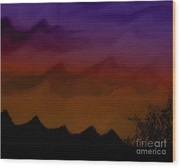 Colors At Dusk Wood Print