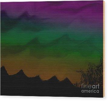Colors At Dusk2 Wood Print