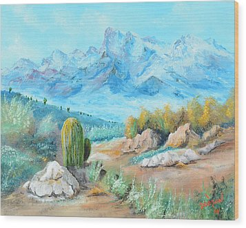 Colors In The High Desert Wood Print