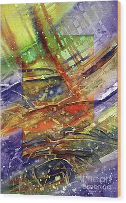 Wood Print featuring the painting Colors Interrupting by Allison Ashton