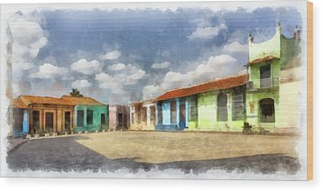 Colors Of Camaguey Wood Print