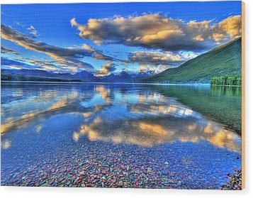 Colors Of Clouds Wood Print by Scott Mahon