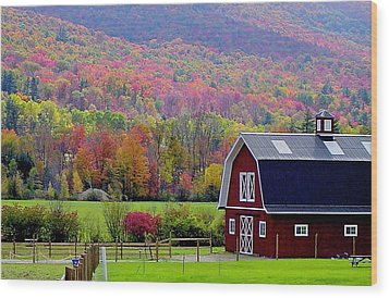 Colors Of New England Wood Print by Rick  Monyahan