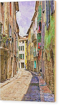 Colors Of Provence, France Wood Print