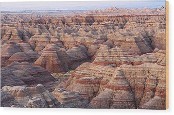 Colors Of The Badlands Wood Print by Monte Stevens