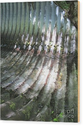 Wood Print featuring the photograph Colors Of The Culvert by Marie Neder