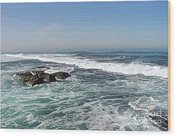 Wood Print featuring the photograph Colors Of The Sea by Carol  Bradley