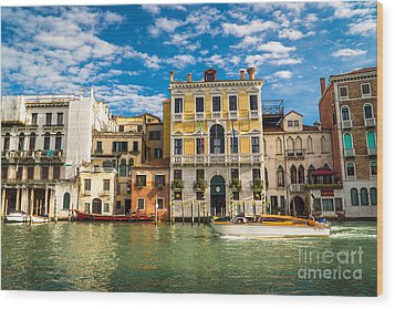 Colors Of Venice - Italy Wood Print
