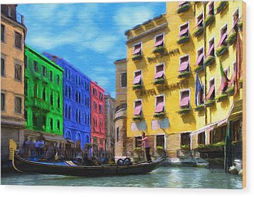 Colors Of Venice Wood Print by Jeffrey Kolker