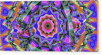 Colors O're Laid Wood Print by Ron Bissett