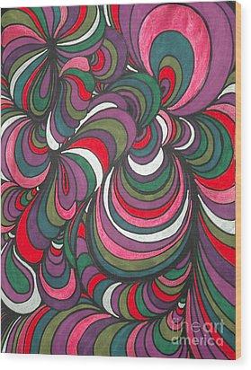 Colorway 5 Wood Print by Ramneek Narang