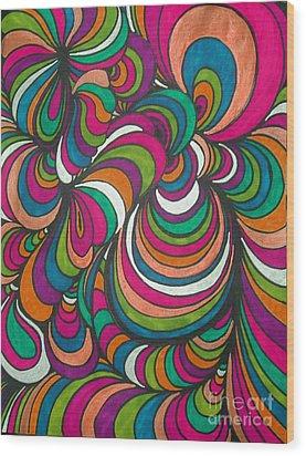 Colorway1 Wood Print by Ramneek Narang