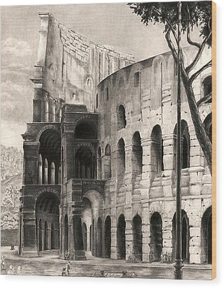 Colosseo Wood Print by Norman Bean