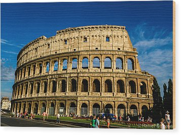 Colosseo Roma Wood Print