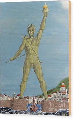 Colossus Of Rhodes Wood Print by Eric Kempson