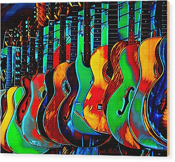 Wood Print featuring the digital art Colour Of Music by Pennie McCracken