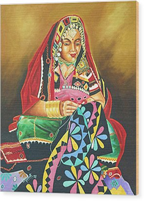 Colour Of Rajasthan Wood Print by Ragunath Venkatraman