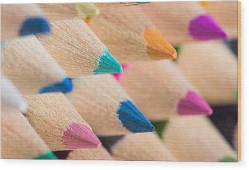 Colour Pencils 3 Wood Print
